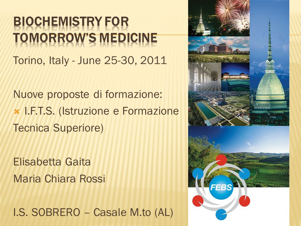 Biochemistry for Tomorrow's Medicine