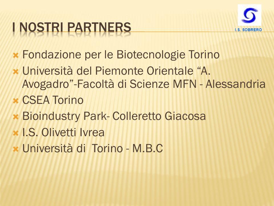 I nostri PARTNERS Fondazione per le Biotecnologie Torino