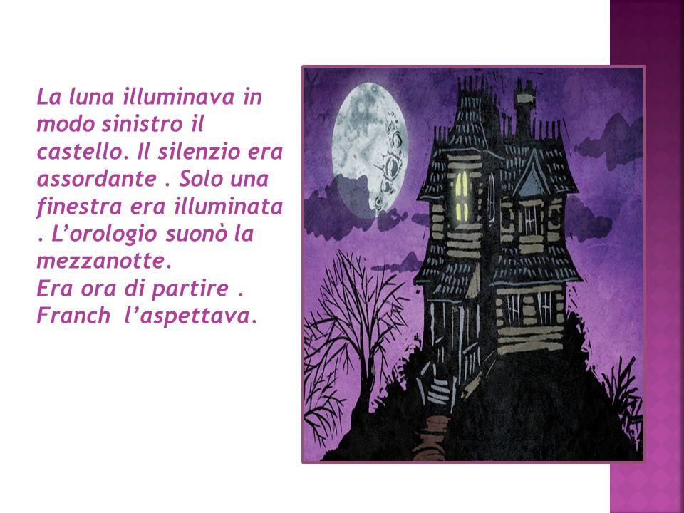 La luna illuminava in modo sinistro il castello