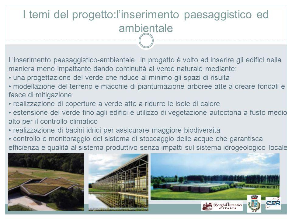 I temi del progetto:l'inserimento paesaggistico ed ambientale