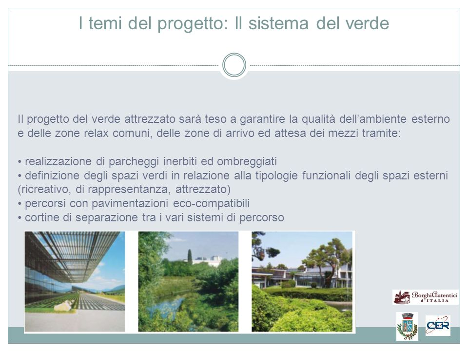 I temi del progetto: Il sistema del verde