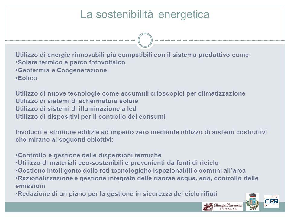 La sostenibilità energetica