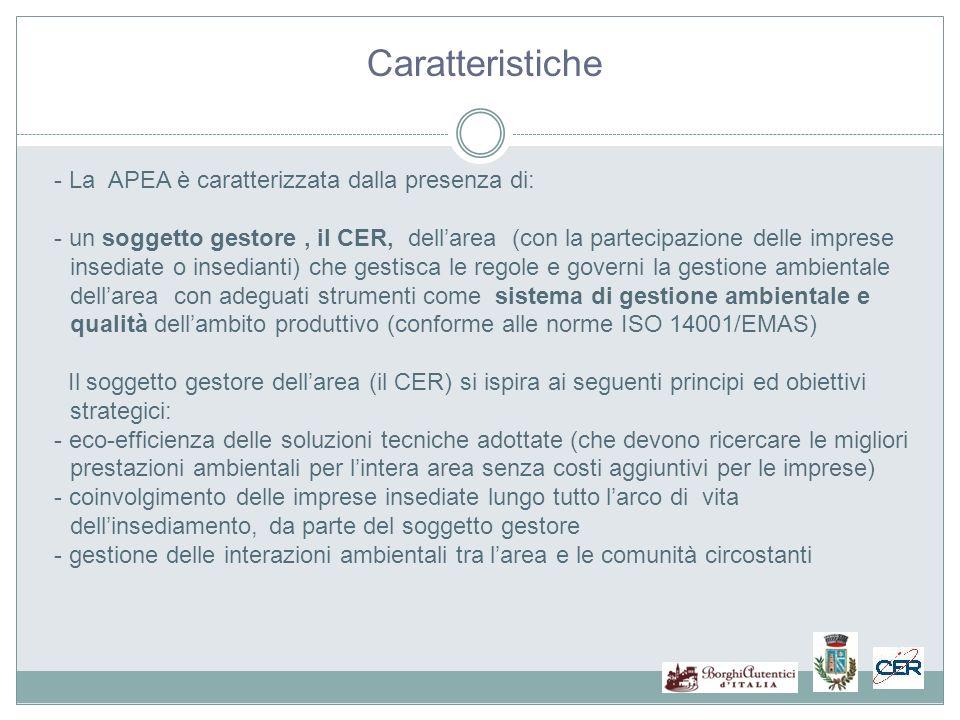 Caratteristiche - La APEA è caratterizzata dalla presenza di: