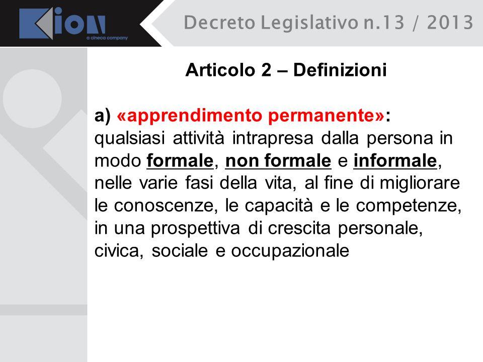 Articolo 2 – Definizioni