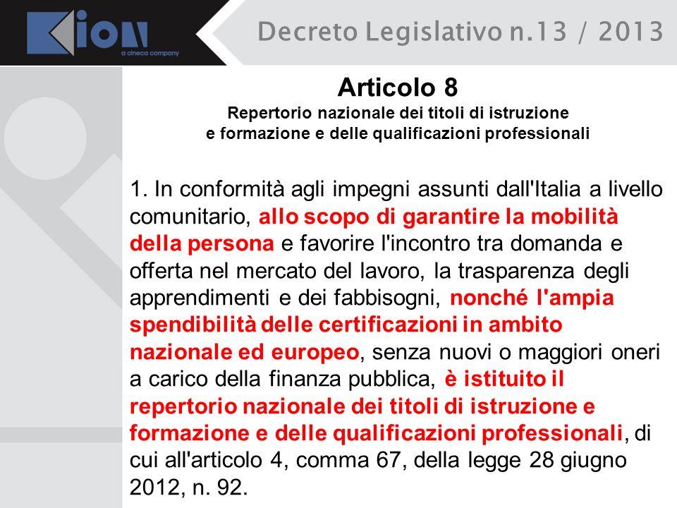 Decreto Legislativo n.13 / 2013