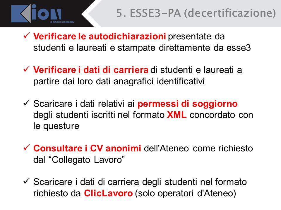 5. ESSE3-PA (decertificazione)