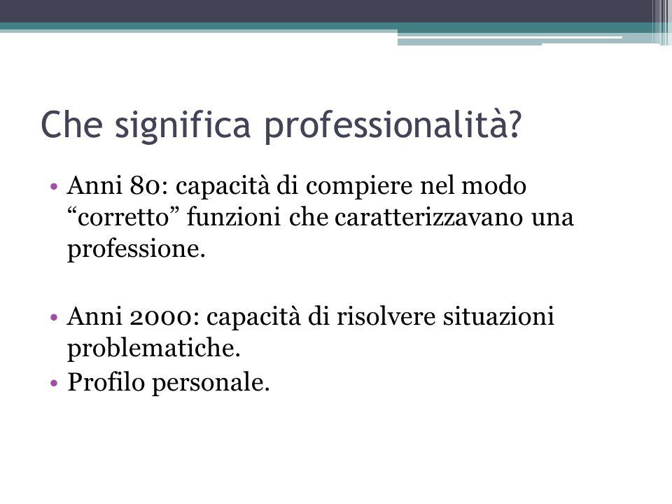 Che significa professionalità