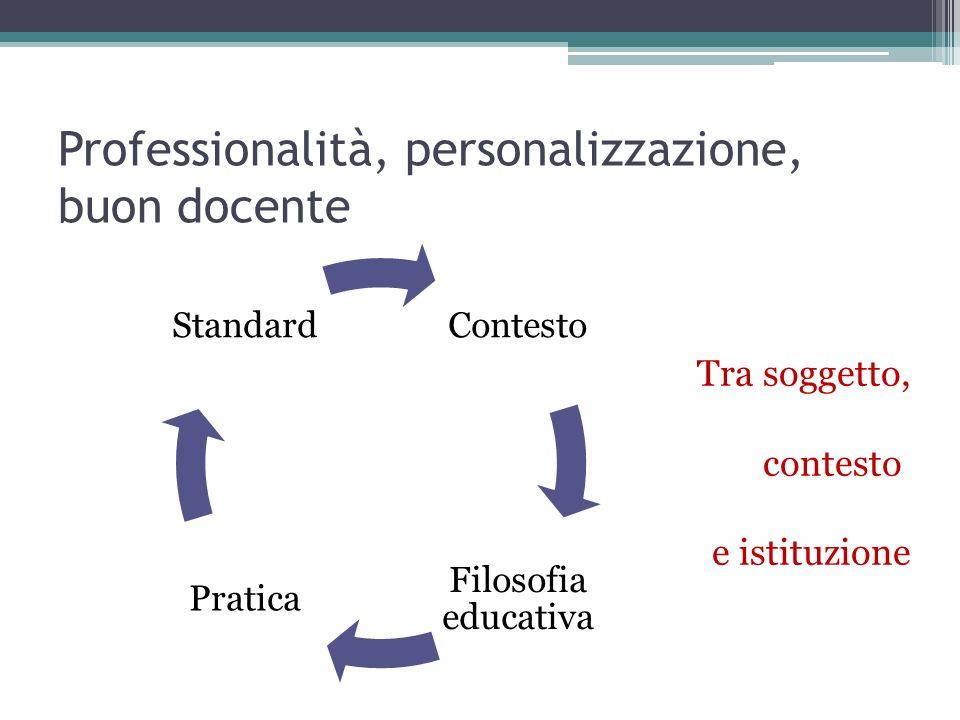 Professionalità, personalizzazione, buon docente