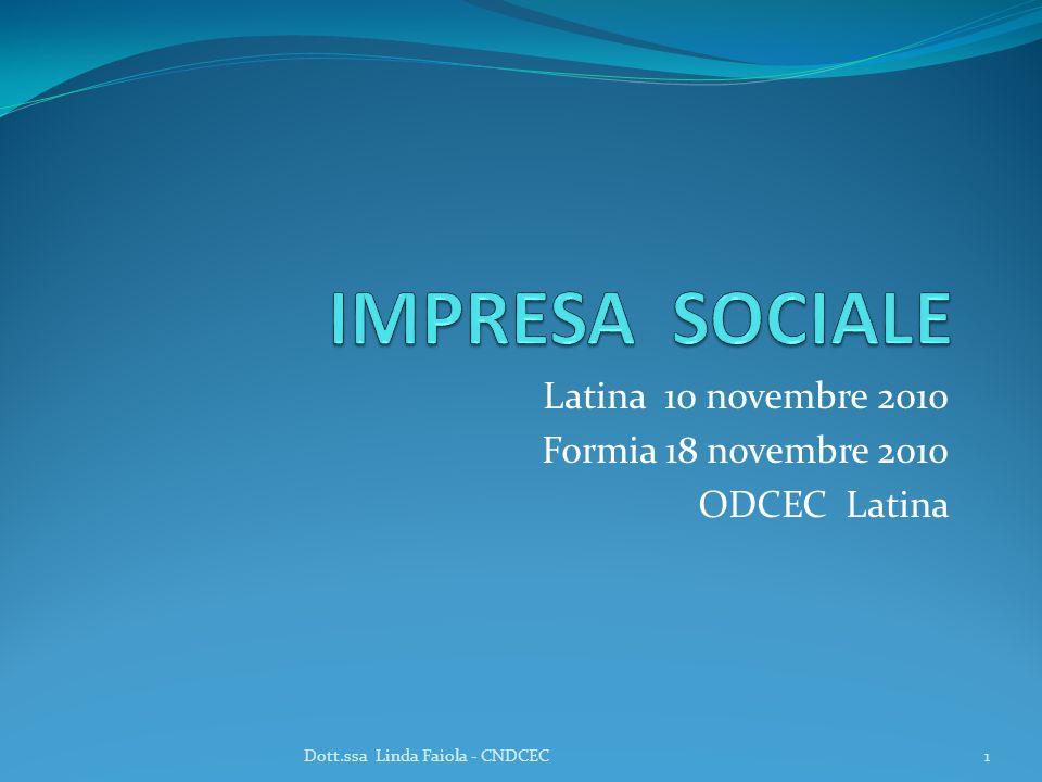 Latina 10 novembre 2010 Formia 18 novembre 2010 ODCEC Latina