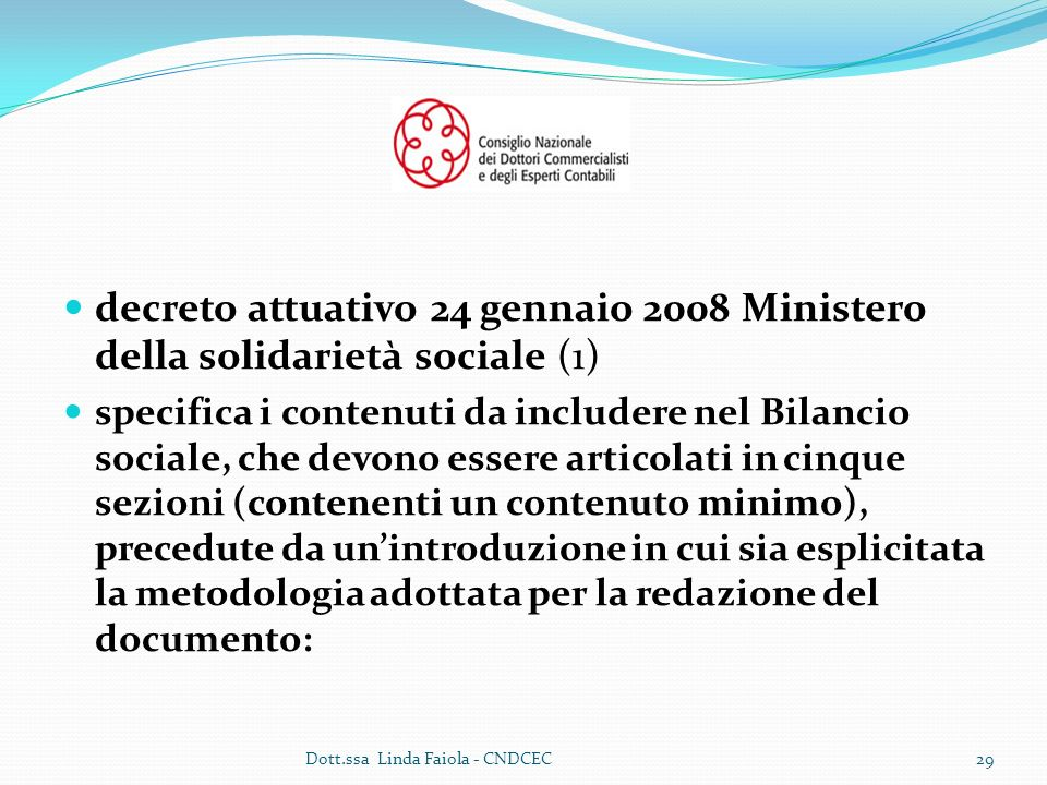 decreto attuativo 24 gennaio 2008 Ministero della solidarietà sociale (1)