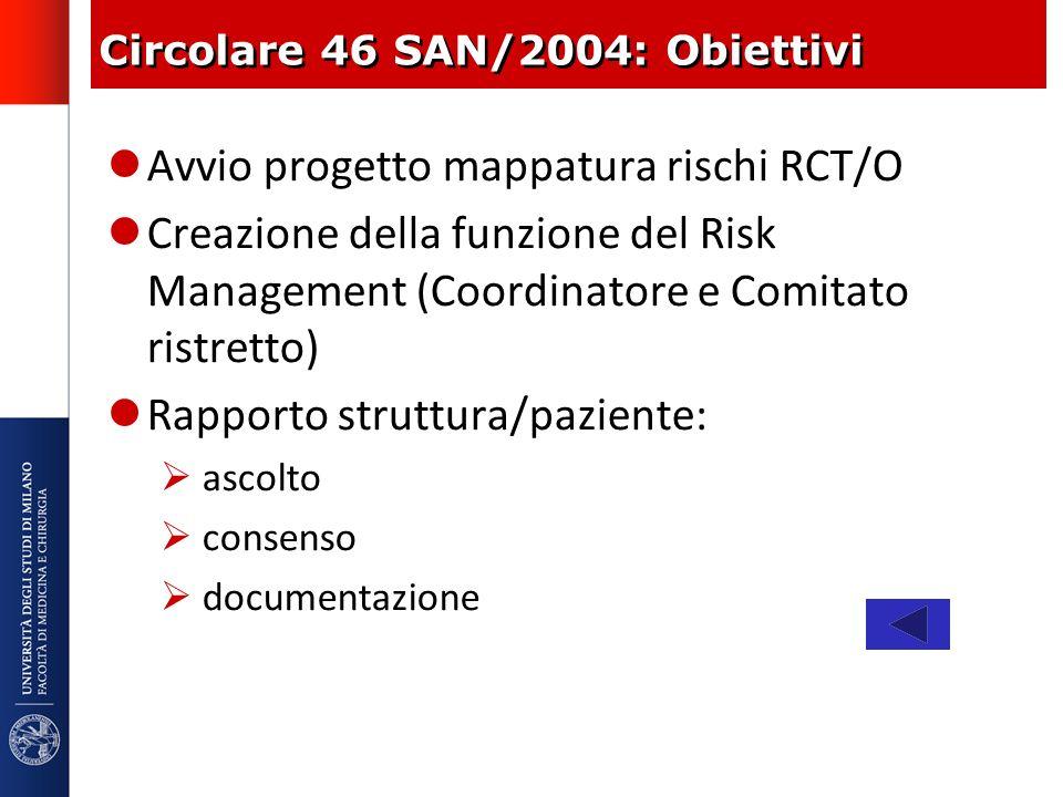 Circolare 46 SAN/2004: Obiettivi
