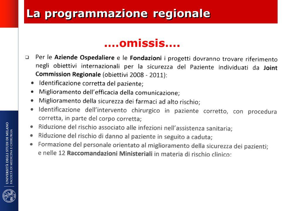 La programmazione regionale