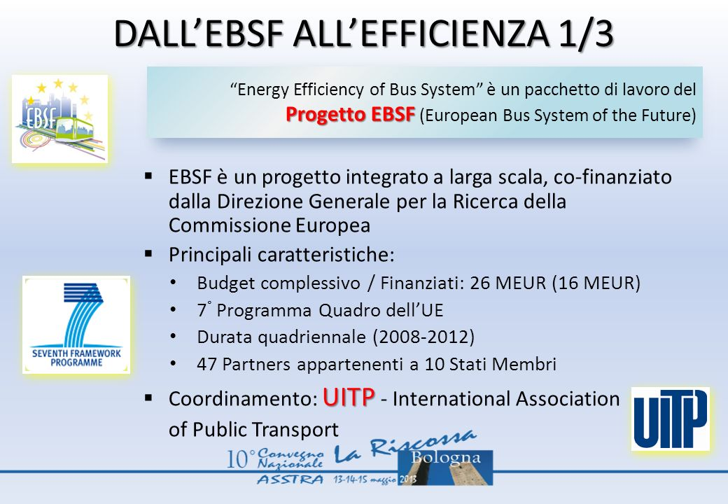 DALL'EBSF ALL'EFFICIENZA 1/3