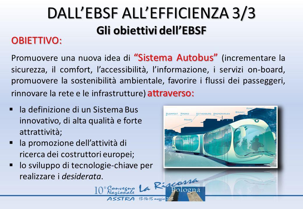 DALL'EBSF ALL'EFFICIENZA 3/3 Gli obiettivi dell'EBSF