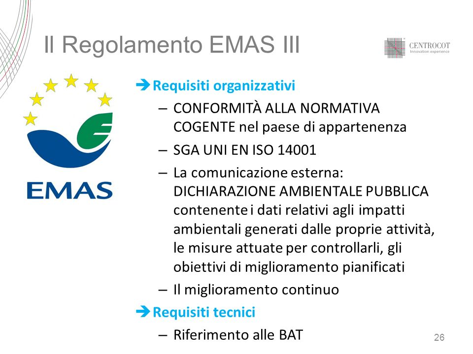 Il Regolamento EMAS III