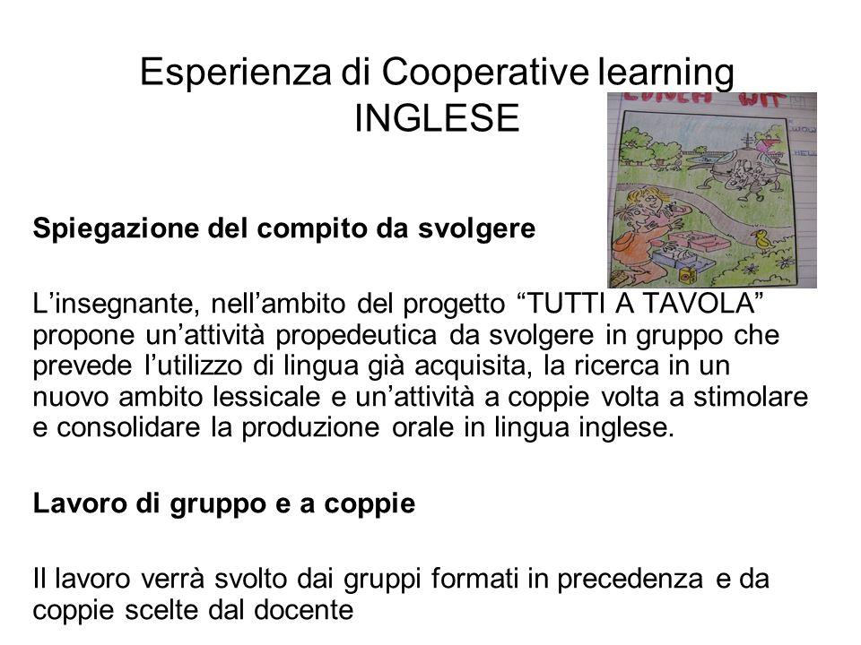 Esperienza di Cooperative learning INGLESE