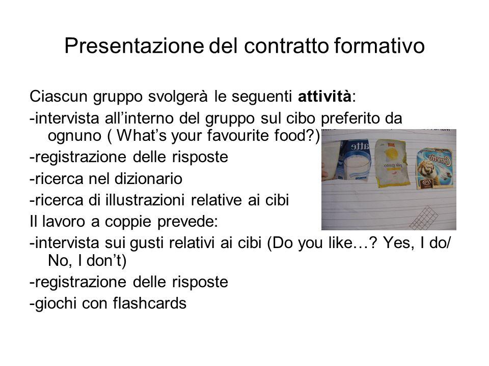Presentazione del contratto formativo