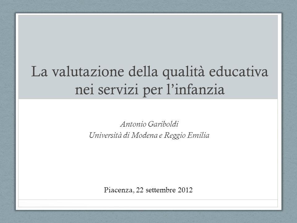 La valutazione della qualità educativa nei servizi per l'infanzia