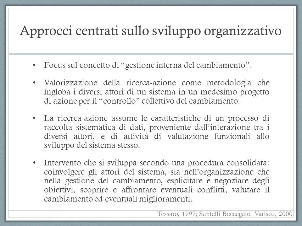 Approcci centrati sullo sviluppo organizzativo