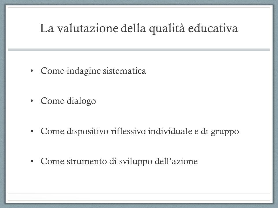 La valutazione della qualità educativa