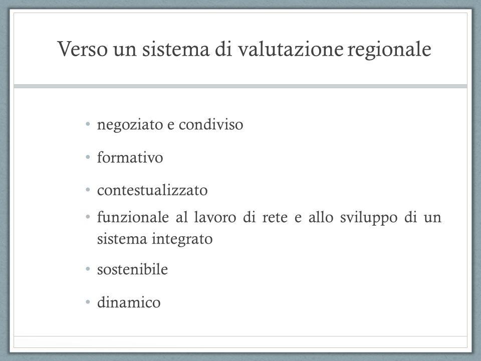 Verso un sistema di valutazione regionale