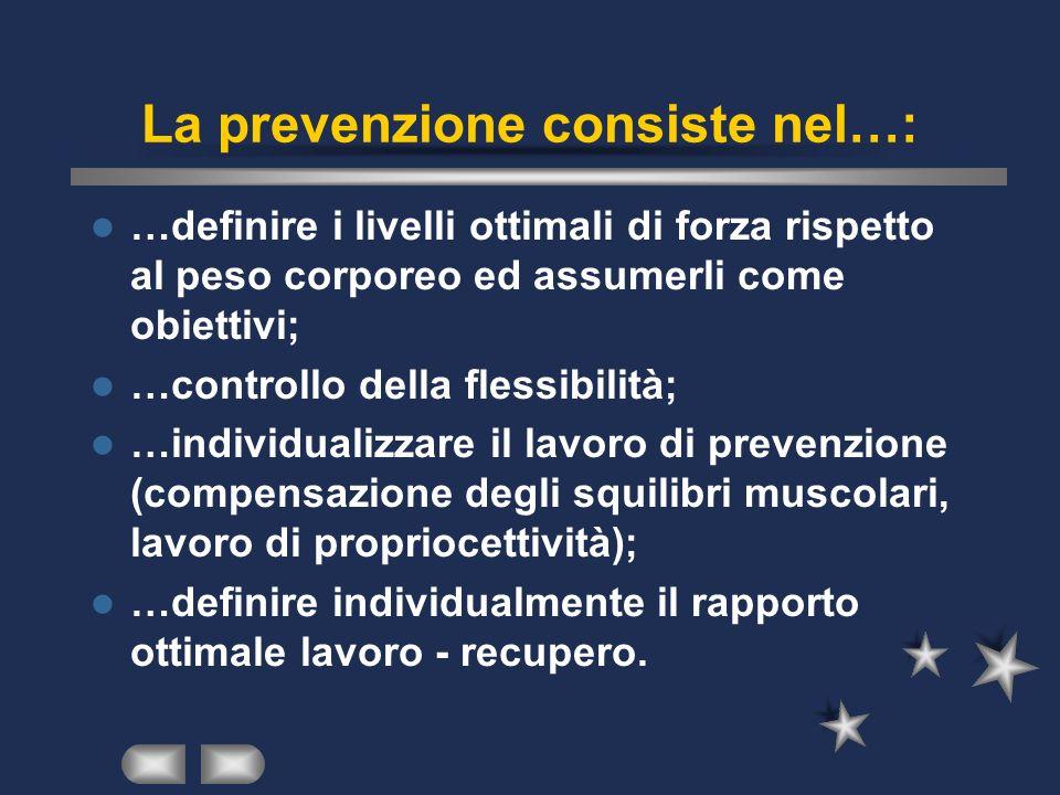 La prevenzione consiste nel…: