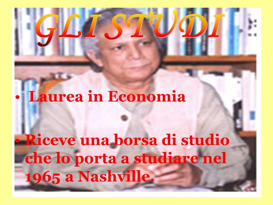 GLI STUDI Laurea in Economia.