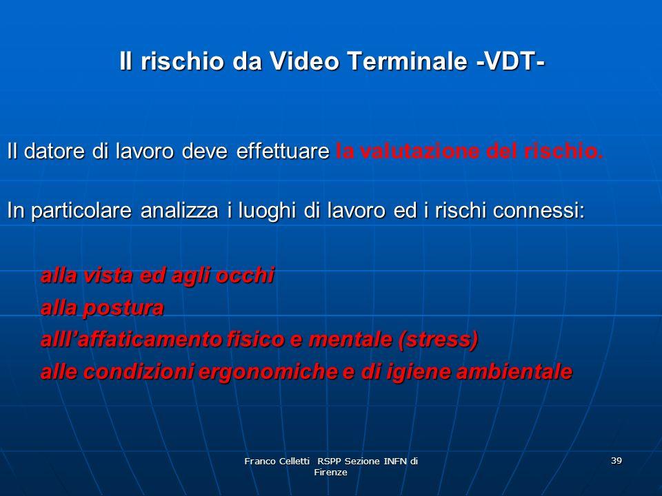 Il rischio da Video Terminale -VDT-