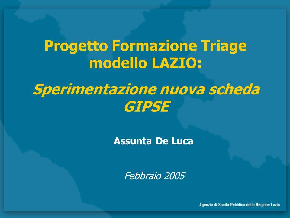 Progetto Formazione Triage modello LAZIO: