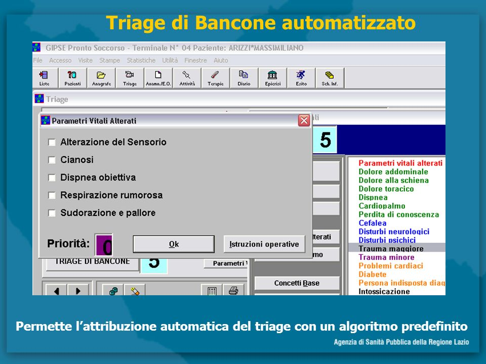 Triage di Bancone automatizzato