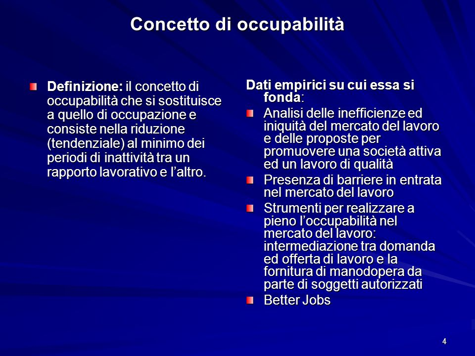 Concetto di occupabilità