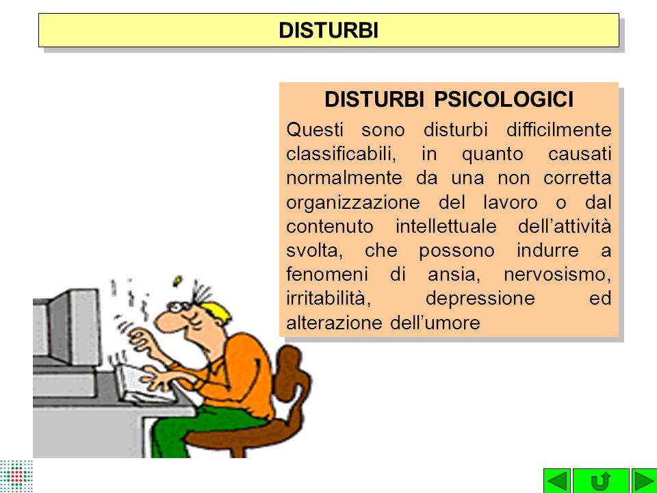 DISTURBI DISTURBI PSICOLOGICI
