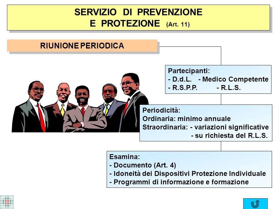SERVIZIO DI PREVENZIONE E PROTEZIONE (Art. 11)