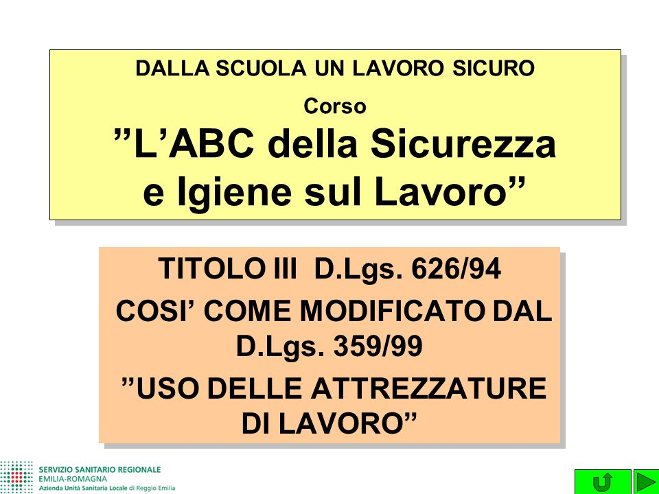 COSI' COME MODIFICATO DAL D.Lgs. 359/99