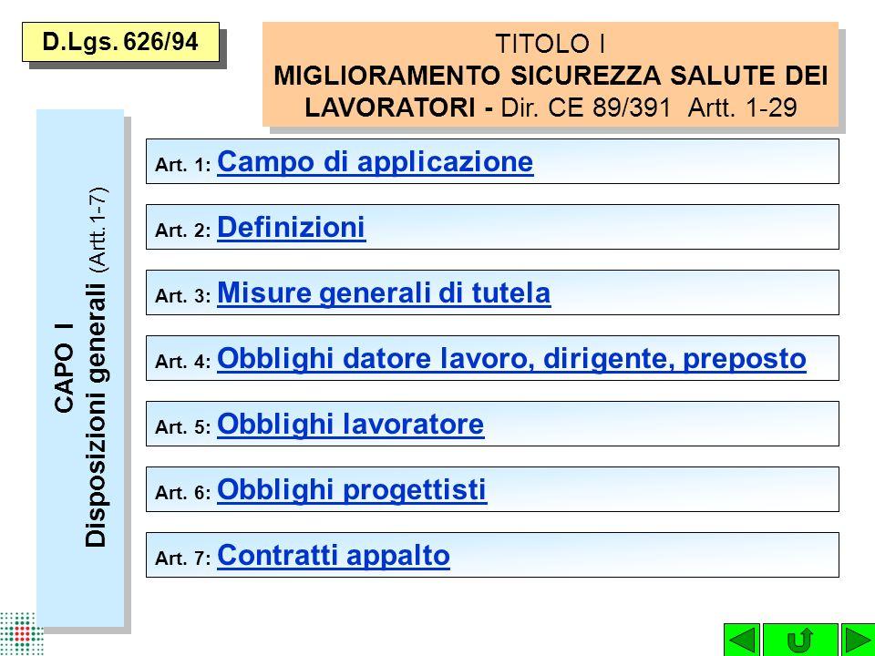 CAPO I Disposizioni generali (Artt.1-7)
