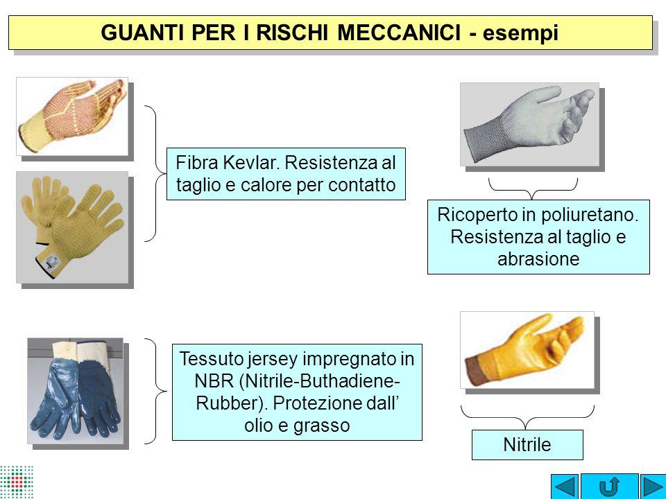 GUANTI PER I RISCHI MECCANICI - esempi