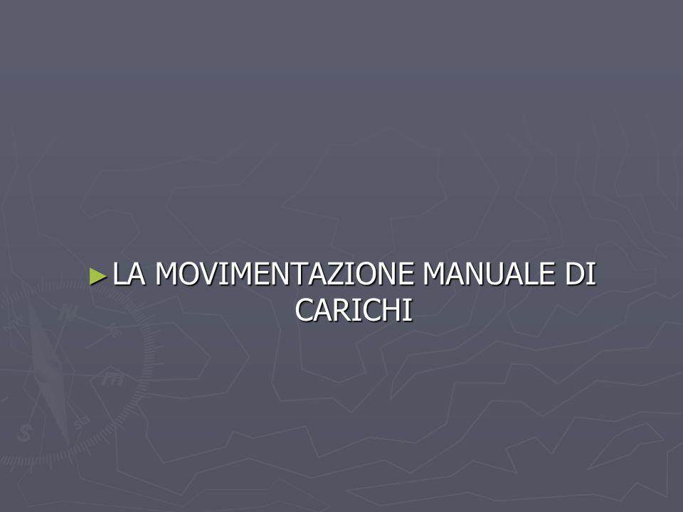 LA MOVIMENTAZIONE MANUALE DI CARICHI