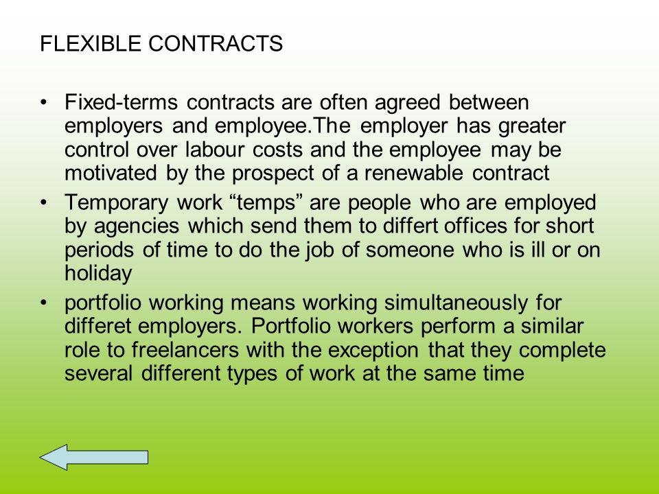 FLEXIBLE CONTRACTS