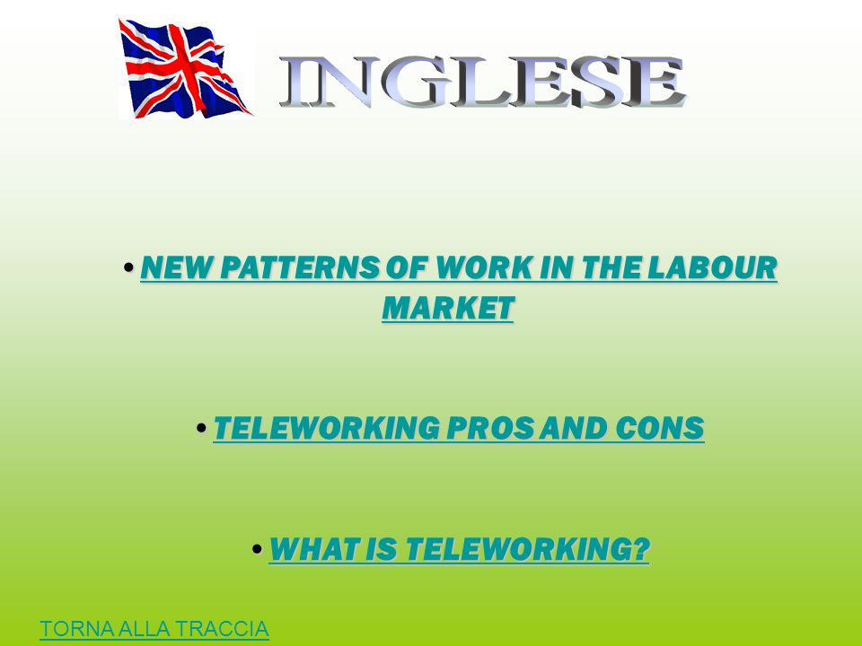 NEW PATTERNS OF WORK IN THE LABOUR MARKET TELEWORKING PROS AND CONS
