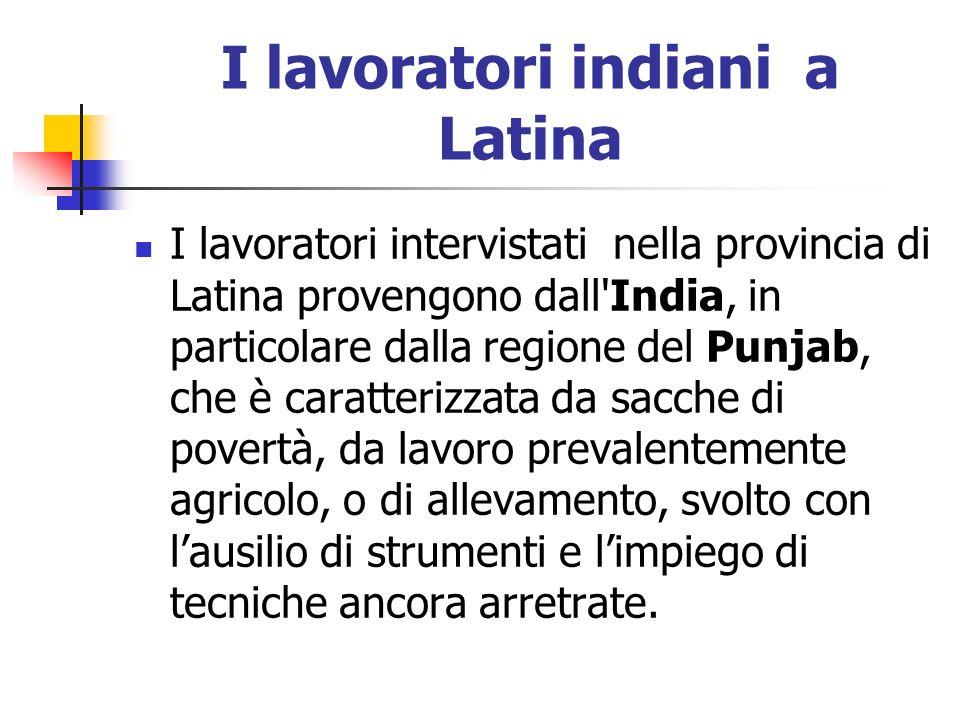 I lavoratori indiani a Latina