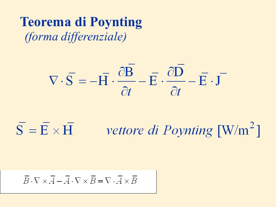 Teorema di Poynting (forma differenziale)