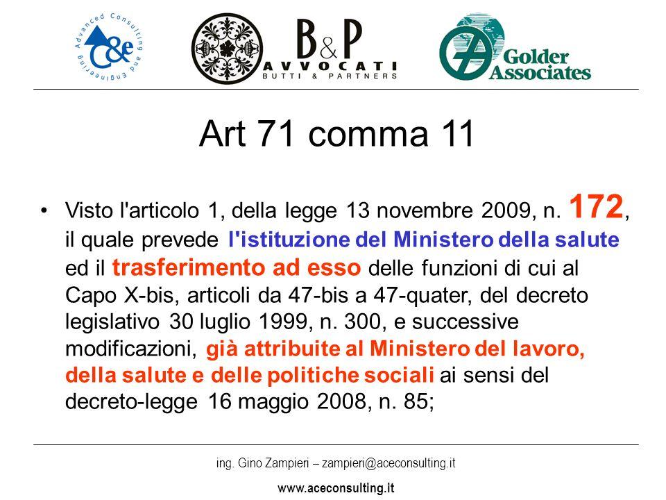 Art 71 comma 11