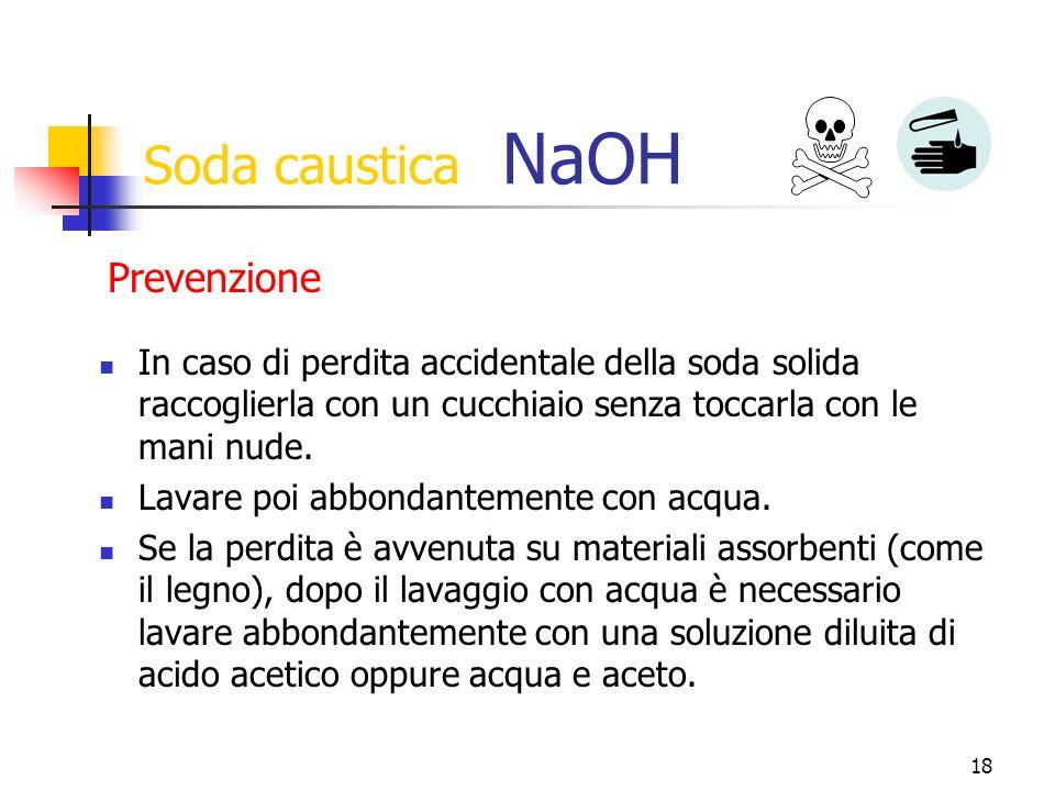 Soda caustica NaOH Prevenzione
