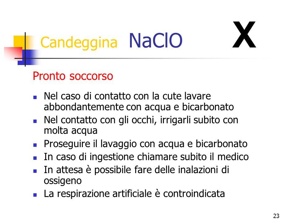 Candeggina NaClO X Pronto soccorso