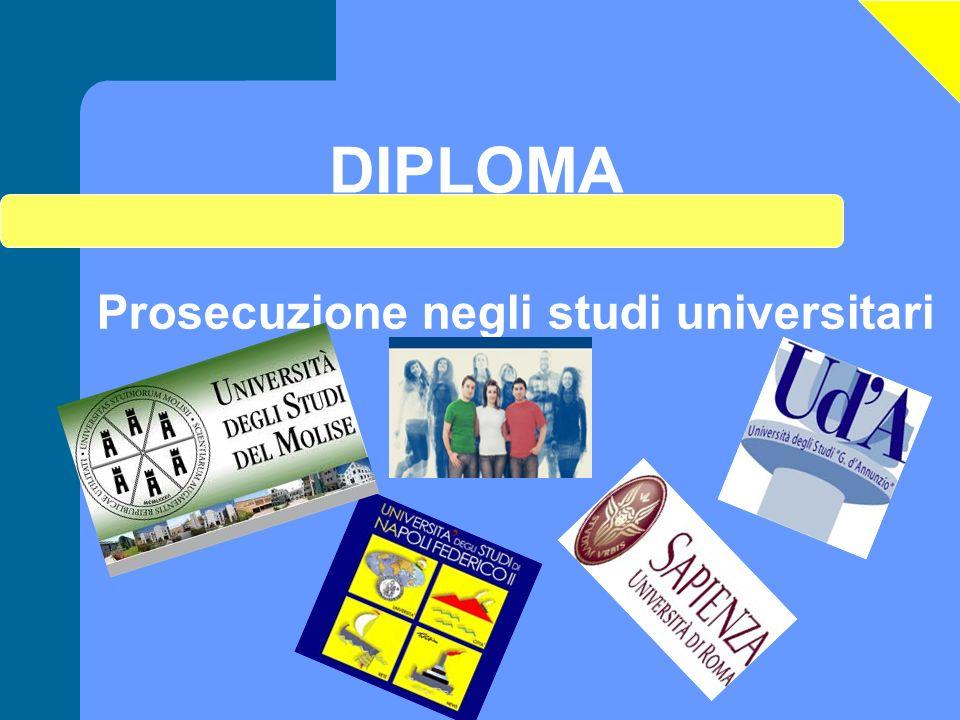 DIPLOMA Prosecuzione negli studi universitari