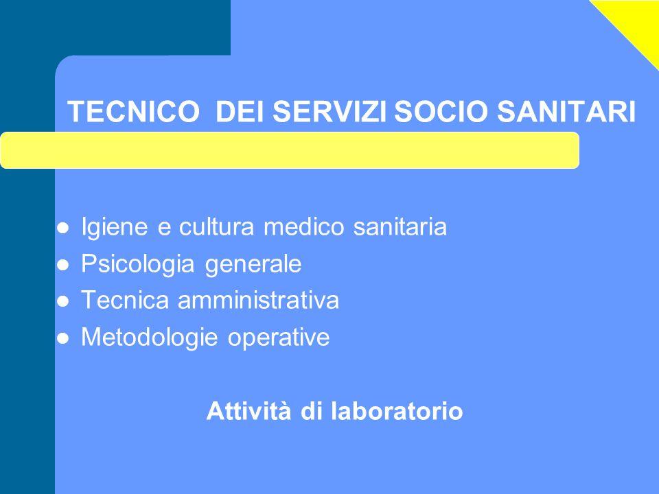 TECNICO DEI SERVIZI SOCIO SANITARI