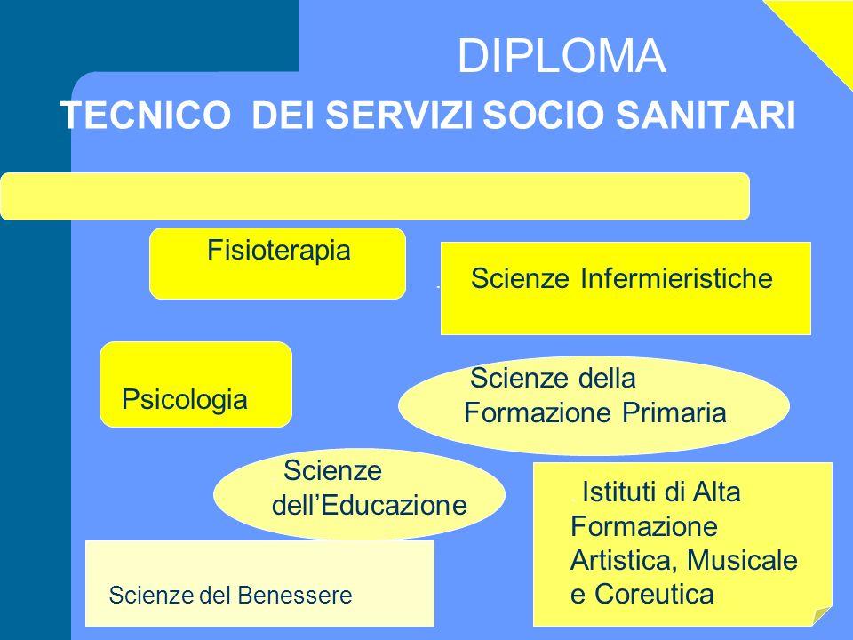 DIPLOMA TECNICO DEI SERVIZI SOCIO SANITARI Scienze del Benessere