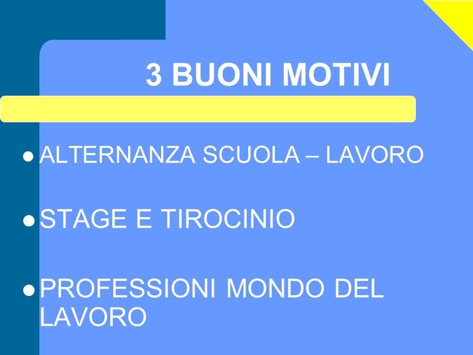 3 BUONI MOTIVI STAGE E TIROCINIO PROFESSIONI MONDO DEL LAVORO