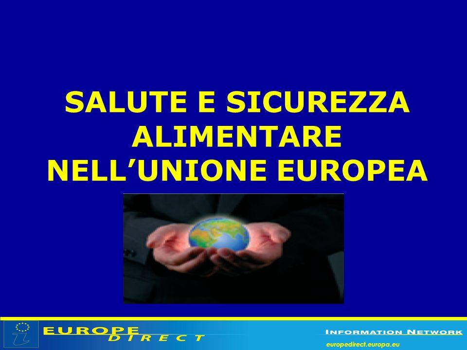 SALUTE E SICUREZZA ALIMENTARE NELL'UNIONE EUROPEA