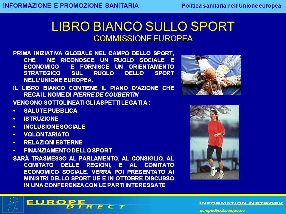 LIBRO BIANCO SULLO SPORT COMMISSIONE EUROPEA